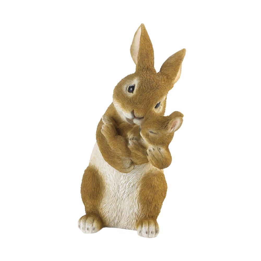 BONDING TIME MOM AND BABY RABBIT FIGURINE 10018807